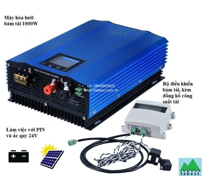 Hòa lưới bám tải 1000W/24V